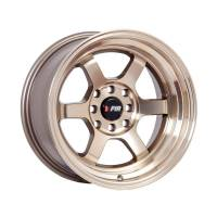 F1R Wheels - F1R Wheels Rim F05 15x8 4x100/114.3 ET0 Machined Bronze - Image 3