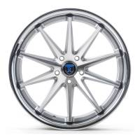 Rohana Wheels - Rohana Wheels Rim RC10 20x10 5x108 40ET Machine Silver/Chrome Lip - Image 1