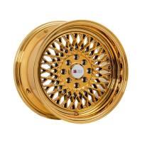 F1R Wheels - F1R Wheels Rim F01 15x8 4x100/114.3 ET25 Gold Chrome - Image 1