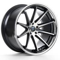 Rohana Wheels - Rohana Wheels Rim RC10 19x9.5 5x120 20ET Machine Black/Chrome Lip - Image 2