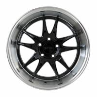 F1R Wheels - F1R Wheels Rim F102 18x8.5 5x100 ET38 Gloss Black/Polish Lip - Image 1