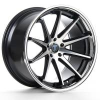 Rohana Wheels - Rohana Wheels Rim RC10 19x8.5 5x120 33ET Machine Black/Chrome Lip - Image 2