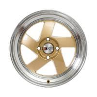 F1R Wheels - F1R Wheels Rim F08 15x8 4x100 ET25 Gold/Polish Lip - Image 2