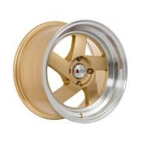 F1R Wheels - F1R Wheels Rim F08 15x8 4x100 ET25 Gold/Polish Lip - Image 3