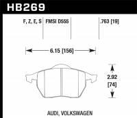 Hawk Performance - Hawk HPS Street Brake Pads - Image 1