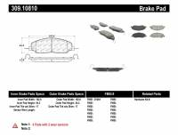 StopTech - StopTech Performance 05-09 Ford Mustang Cobra/Mach 1 V6/GT / 10 Shelby/Shelby GT Front Brake Pads - Image 1