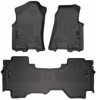Husky Liners - Husky Liners 2019 Ram 1500 Quad Cab Front & 2nd Seat Weatherbeater Floor Liners - Image 1