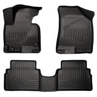 Husky Liners - Husky Liners 14 Hyundai Tucson w/Retain Hooks WeatherBeater Combo Front & 2nd Row Black Floor Liners - Image 1