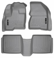 Husky Liners - Husky Liners 09-12 Ford Flex/10-12 Lincoln MKT WeatherBeater Combo Gray Floor Liners - Image 1