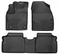 Husky Liners - Husky Liners 2015 Toyota Prius WeatherBeater Black Front & 2nd Seat Floor Liners - Image 1