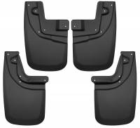 Husky Liners - Husky Liners 05-15 Toyota Tacoma w/ OEM Fender Flares Front and Rear Mud Guards - Black - Image 1