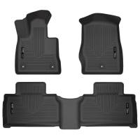 Husky Liners - Husky Liners 2020 Ford Explorer Weatherbeater Black Front & 2nd Seat Floor Liners - Image 1