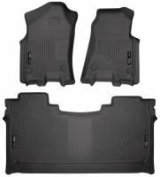 Husky Liners - Husky Liners 19 Dodge Ram 1500 Crew Cab Weatherbeater Black Front & 2nd Seat Floor Liners - Image 1