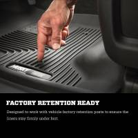 Husky Liners - Husky Liners 2015 Chevy Colorado / GMC Canyon Extended Cab X-Act Contour Black 2nd Row Floor Liners - Image 5