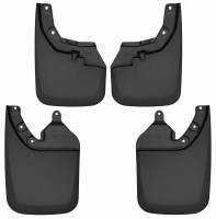 Husky Liners - Husky Liners 2016-2017 Toyota Tacoma w/ OE Fender Flares Front and Rear Mud Guards - Black - Image 1