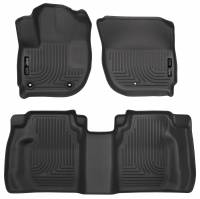 Husky Liners - Husky Liners 15 Honda Fit Weatherbeater Black Front and Second Seat Floor Liners - Image 1
