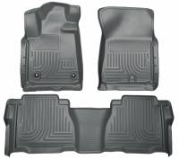 Husky Liners - Husky Liners 12-13 Toyota Tundra Weatherbeater Grey Front & 2nd Seat Floor Liners - Image 1