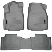 Husky Liners - Husky Liners 09-12 Honda Pilot (All) WeatherBeater Combo Gray Floor Liners (One Piece for 2nd Row) - Image 1