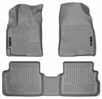 Husky Liners - Husky Liners 09-12 Toyota Corolla/Matrix/Pontiac Vibe (FWD) WeatherBeater Combo Gray Floor Liners - Image 1