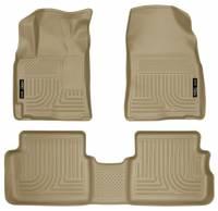 Husky Liners - Husky Liners 09-12 Toyota Corolla/Matrix/Pontiac Vibe (FWD) WeatherBeater Combo Tan Floor Liners - Image 1