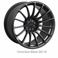 XXR Wheels - XXR Wheel Rim 550 18X9.75 5x100/5x114.3 ET36 73.1CB Chromium Black - Image 1