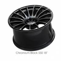 XXR Wheels - XXR Wheel Rim 550 18X9.75 5x100/5x114.3 ET36 73.1CB Chromium Black - Image 2