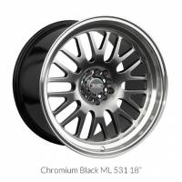 XXR Wheels - XXR Wheel Rim 531 18X8.5 5x100/5x114.3 ET20 73.1CB Chromium Black / ML - Image 1