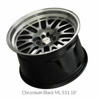 XXR Wheels - XXR Wheel Rim 531 18X8.5 5x100/5x114.3 ET20 73.1CB Chromium Black / ML - Image 2