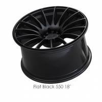 XXR Wheels - XXR Wheel Rim 550 18X9.75 5x100/5x114.3 ET36 73.1CB Flat Black - Image 2