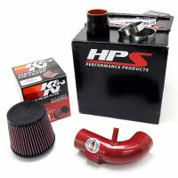 HPS Silicone Hoses - HPS Red Shortram Cool Air Intake Kit for 12-15 Honda Civic 1.8L 9th Gen - Image 4