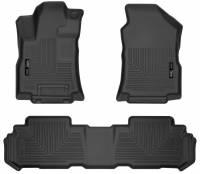 Husky Liners - Husky Liners 2019 Subaru Ascent Weatherbeater Black Front & 2nd Seat Floor Liners - Image 1