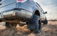 Husky Liners - Husky Liners 09-16 Dodge Ram 1500/2500/3500 12in W Black Top & Weight Kick Back Front Mud Flaps - Image 3