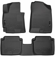 Husky Liners - Husky Liners 2014-2016 Hyundai Elantra WeatherBeater Combo Black Floor Liners - Image 1