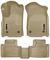 Husky Liners - Husky Liners 16 Dodge Durango/Jeep Grand Cherokee Weatherbeater Tan Front & 2nd Seat Floor Liners - Image 1