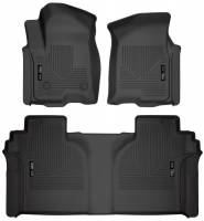 Husky Liners - Husky Liners 2019 Chevrolet Silverado 1500 Crew Cab WeatherBeater Blk Front & 2nd Seat Floor Liners - Image 1