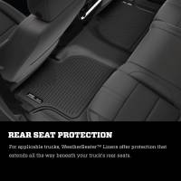 Husky Liners - Husky Liners 2019 Chevrolet Silverado 1500 Crew Cab WeatherBeater Blk Front & 2nd Seat Floor Liners - Image 4