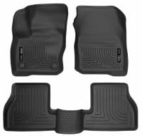 Husky Liners - Husky Liners 2016 Ford Focus Weatherbeater Front and 2nd Seat Floor Liners - Black - Image 1