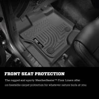 Husky Liners - Husky Liners 2017 Ford Super Duty (Crew Cab) WeatherBeater Black Rear Floor Liners - Image 6