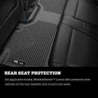 Husky Liners - Husky Liners 2017 Ford Super Duty (Crew Cab) WeatherBeater Black Rear Floor Liners - Image 7