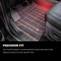 Husky Liners - Husky Liners 14-15 Chevy Silverado Double Cab X-Act Contour Black 2nd Row Floor Liners - Image 6