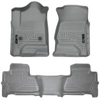 Husky Liners - Husky Liners 2015 Chevy/GMC Suburban/Yukon XL WeatherBeater Combo Gray Front & 2nd Seat Floor Liners - Image 1