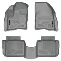 Husky Liners - Husky Liners 10-13 Ford Taurus WeatherBeater Combo Gray Floor Liners - Image 1