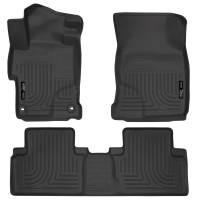 Husky Liners - Husky Liners 2014 Honda Civic Sedan WeatherBeater Black Front & 2nd Seat Floor Liners - Image 1