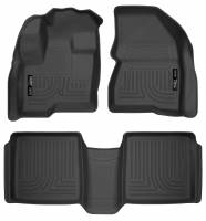 Husky Liners - Husky Liners 09-12 Ford Flex/10-12 Lincoln MKT WeatherBeater Combo Black Floor Liners - Image 1