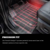 Husky Liners - Husky Liners 2015 Chevy Colorado / GMC Canyon Extended Cab X-Act Contour Black 2nd Row Floor Liners - Image 6