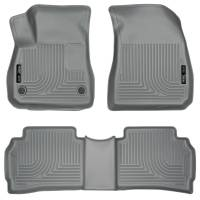 Husky Liners - Husky Liners 2016 Chevy Malibu WeatherBeater Front and 2nd Seat Gray Floor Liners - Image 1
