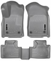 Husky Liners - Husky Liners 16 Dodge Durango/Jeep Grand Cherokee Weatherbeater Grey Front & 2nd Seat Floor Liners - Image 1