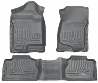 Husky Liners - Husky Liners 07-12 Chevy Silverado/GMC Sierra Extended Cab WeatherBeater Combo Gray Floor Liners - Image 1