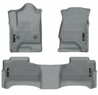 Husky Liners - Husky Liners 14 Chevrolet Silverado/GMC Sierra WeatherBeater Grey Front & 2nd Seat Floor Liners - Image 1