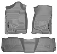 Husky Liners - Husky Liners 07-13 GM Escalade ESV/Avalanche/Suburban WeatherBeater Gray Front/2nd Row Floor Liners - Image 1